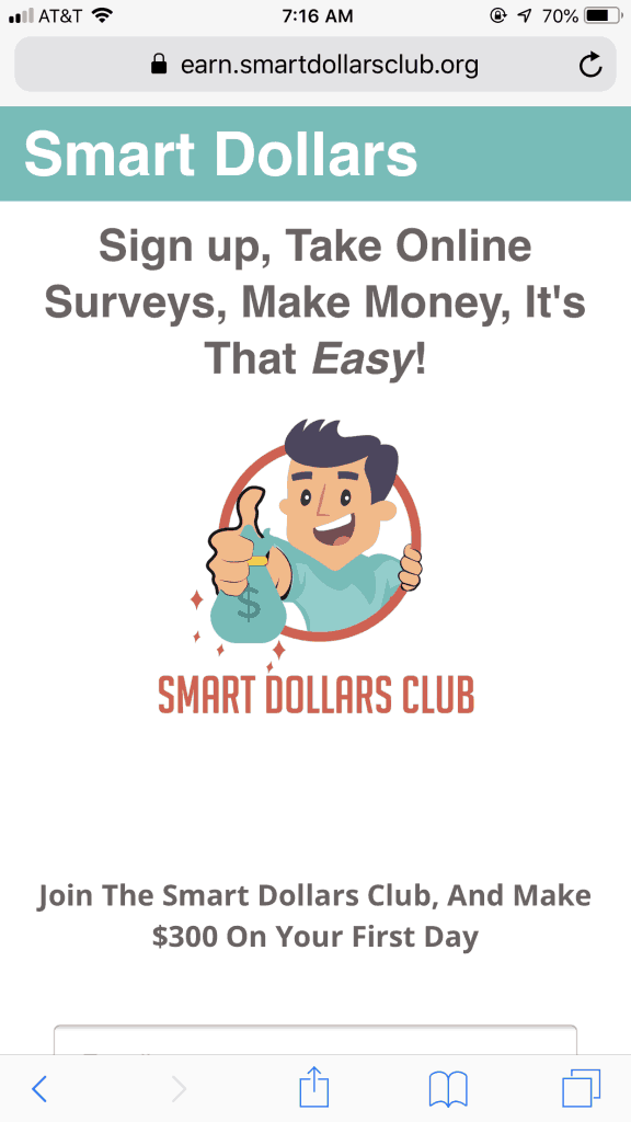 Smart Dollars Club Homepage