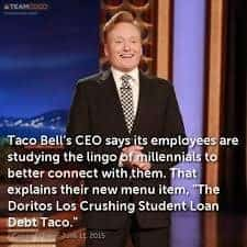 Student loan meme from Conan O'brien